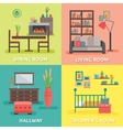 Interior Colored Compositions vector image vector image