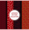 japanese pattern collection vector image