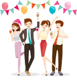 Man And Woman Fun In Party With Drink vector image