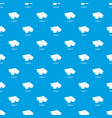 many packages pattern seamless blue vector image