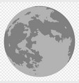 map of moon isolated vector image vector image
