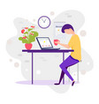 millennials at work male millennial working vector image vector image