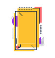 orange place with frame for story in social media vector image vector image