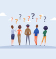 people group doubt person thinking question vector image