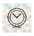pixel icon megaphone on a square background vector image vector image