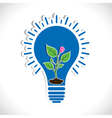 plant in bulb vector image