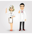 portrait of nurse and doctor vector image vector image