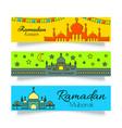 ramadan banners or headers set vector image vector image
