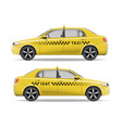 realistic yellow taxi car car mockup isolated on vector image vector image