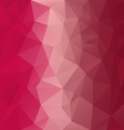 red pink magenta polygonal triangular pattern vector image vector image