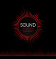 red round musical sound logo soundtrack recording vector image vector image