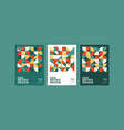 retro geometric cover bauhaus design template vector image vector image