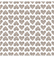 seamless pattern with animal heart vector image vector image