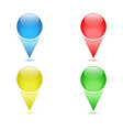Set of colored checkpoints navigation pins vector image
