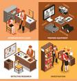 sleuth isometric design concept vector image vector image