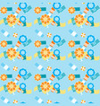 summer beach umbrellas seamless pattern vector image vector image