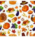 Thanksgiving seamless pattern decoration vector image vector image