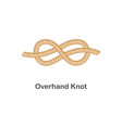type nautical or marine node overhand knot for vector image vector image