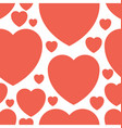 valentine and hearts background vector image vector image