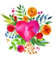 Vintage background with flowers in love and flower vector image