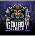 voodoo cowboy esport mascot logo vector image vector image