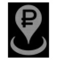 white halftone rouble bank location icon vector image vector image