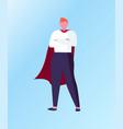winner standing in superhero suit business vector image vector image