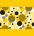 yellow random round geometry seamless pattern vector image vector image