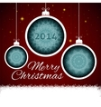 Christmas balls paper vector image