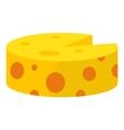 Cheese icon cartoon style vector image