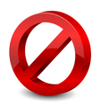 3d forbidden sign vector image vector image