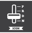 Automatic transmission sign icon Auto control vector image vector image