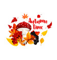 autumn or fall nature season poster design vector image vector image