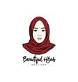 beautiful stylish hijab girl logo brand