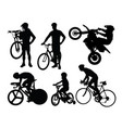 bike rider silhouettes vector image