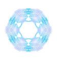 blue guilloche rosette or spirograph background vector image