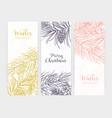 bundle vertical seasonal banners or backdrops vector image vector image