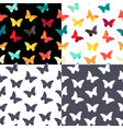 butterfly seamless simple pattern background set vector image vector image
