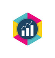 charts and graphs logo design economic business vector image vector image