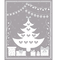 Christmas card in the style of carving paper vector image vector image