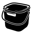 cleaning bucket icon simple style vector image vector image