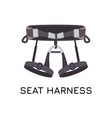 climbing sit harness a waist belt and two leg vector image vector image