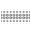 clock gear shape halftone grid vector image