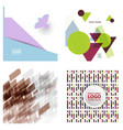 colorful geometric background simple shapes vector image vector image