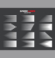 comic speed motion lines collection vector image vector image