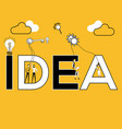 creative word concept idea and people doing vector image vector image