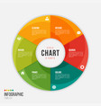 cycle chart infographic template with 6 parts