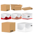 designed card board packing boxes vector image