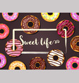 Donut frame background