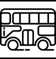 double decker side view icon vector image vector image